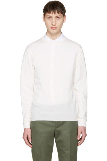 Éditions M.R  - Off-White Merino Stanislas Pullover
