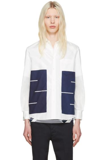 Blue Blue Japan - White Boxes Shirt