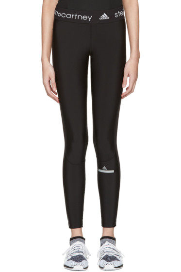 adidas by Stella McCartney - Black Long Run Leggings