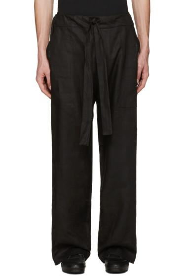 Phoebe English - Black Linen Tie Front Trousers