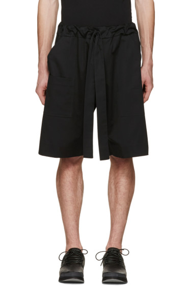 Phoebe English - Black Tie Front Shorts