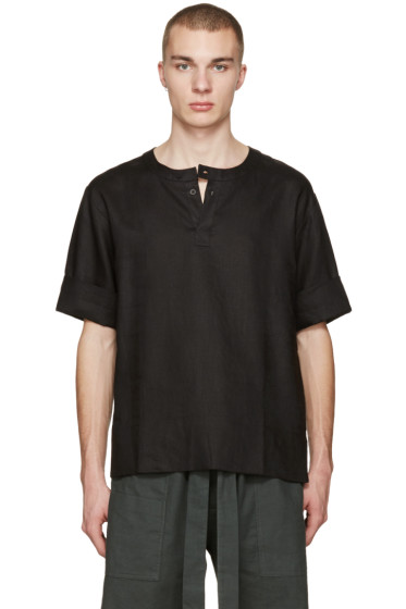 Phoebe English - Black Linen T-Shirt