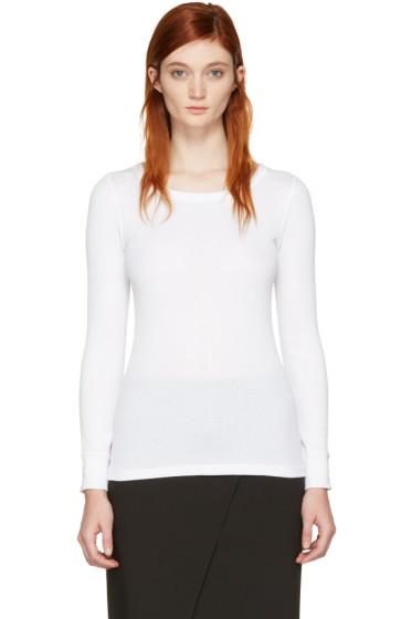 Hyke - White Ribbed T-Shirt