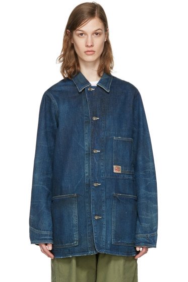 Chimala - Indigo Denim Work Chore Jacket