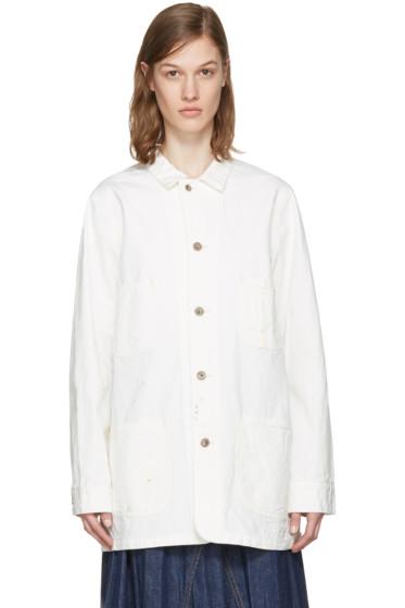 Chimala - Off-White Painted Work Jacket