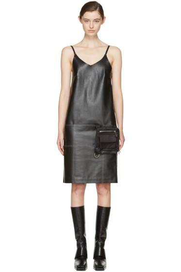 Alyx - Black Leather Apron Dress
