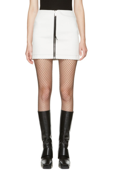 Alyx - White Denim Zip Miniskirt