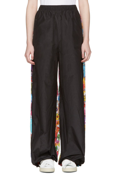 Ports 1961 - Black Floral Drawstring Trousers