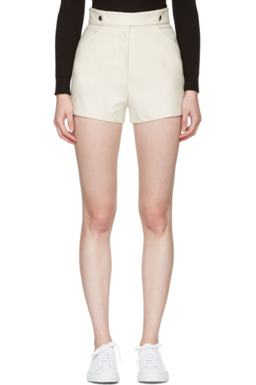Courrèges - Ivory Button Belt Shorts