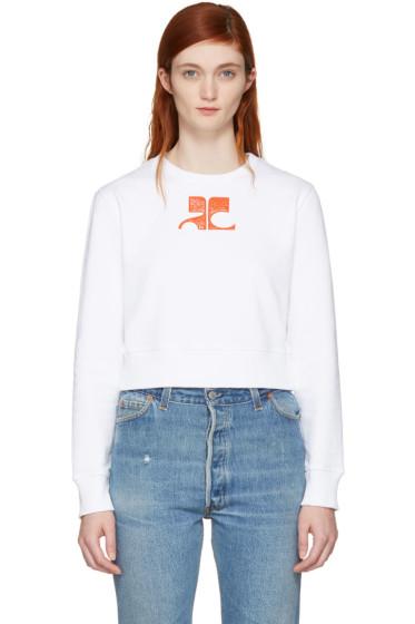 Courrèges - White Short Logo Sweatshirt