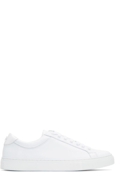 Courrèges - White Leather Logo Sneakers