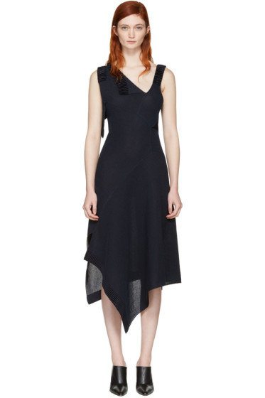 Victoria Beckham - Navy Patchwork Dress