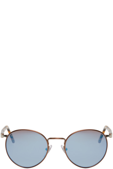 Persol - Brown Tortoiseshell Round Sunglasses