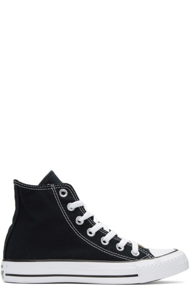 Converse - Black & White Classic Chuck Taylor All Star OX High-Top Sneakers