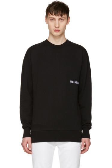 Han Kjobenhavn - Black Casual Crew Logo Sweatshirt