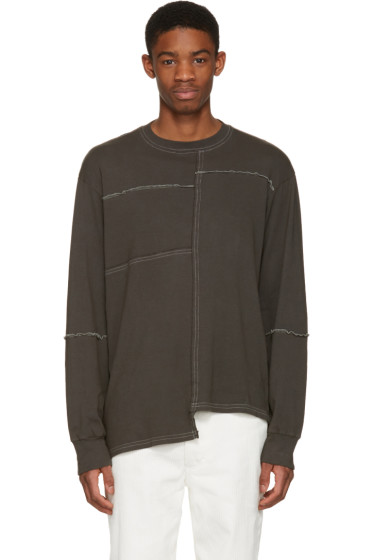 Eckhaus Latta - Grey Patched Pullover