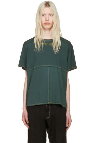 Eckhaus Latta - Green Lapped T-Shirt