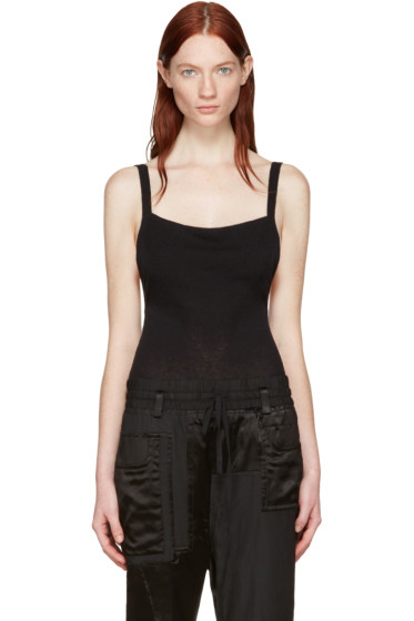 Wendelborn - Black Open Back Bodysuit