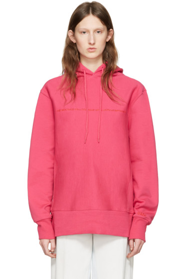 032c - Pink 'The Beatings Will Continue' Hoodie