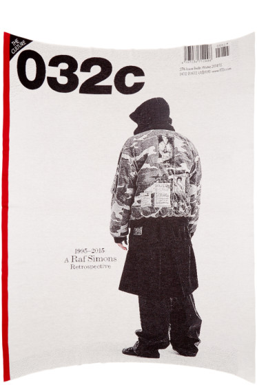 032c - Grey 'Under The Covers' Raf Simons Blanket