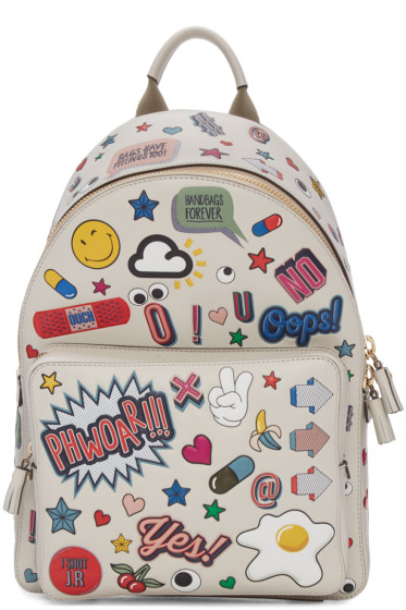 Anya Hindmarch - Ivory Wink Stickers Backpack