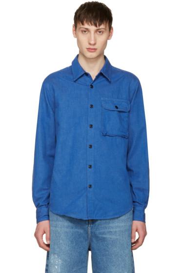 Noah NYC - Blue Denim Utility Shirt