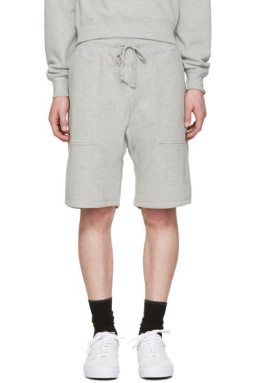 Noah NYC - Grey Solid Lounge Shorts