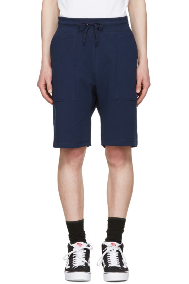 Noah NYC - Navy Solid Lounge Shorts