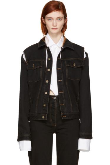Y/Project - Black Denim Cut-Out Jacket