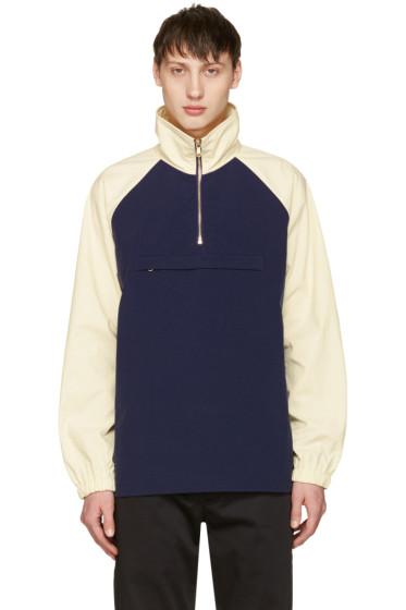Aime Leon Dore - Navy & Off-White Nylon Popover Jacket