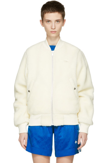 adidas Originals by Alexander Wang - Reversible Off-White Bomber Jacket