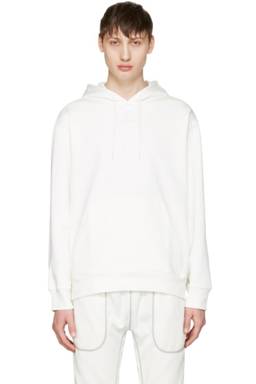 adidas Originals by Alexander Wang - White Logo Hoodie