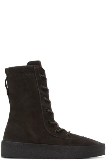 YEEZY - Black Crepe Boots