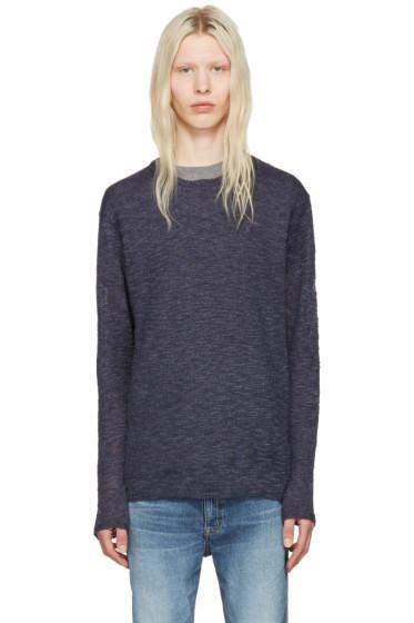 nonnative - Navy Linen Clerk Sweater