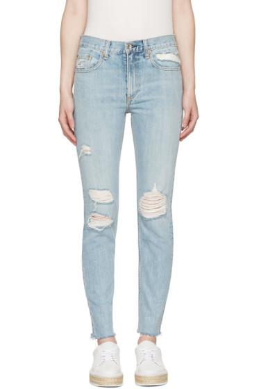 Rag & Bone - Blue Marilyn Skinny Jeans