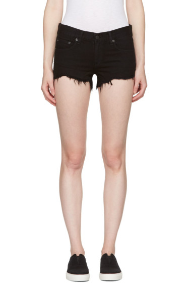 Rag & Bone - Black Cut-Off Jean Shorts