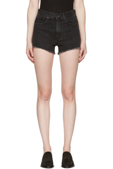 Rag & Bone - Black Denim Justine Shorts