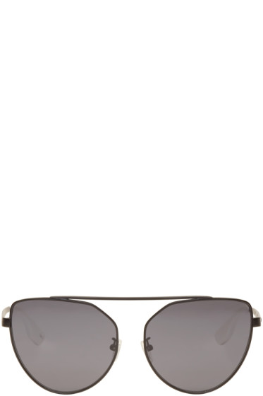 McQ Alexander McQueen - Black Cat Eye Sunglasses