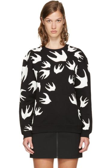 McQ Alexander McQueen - Black & White Swallows Sweatshirt