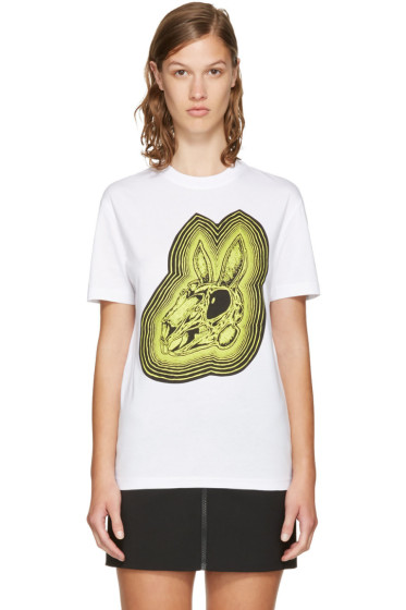 McQ Alexander McQueen - White 'Bunny Be Here Now' T-Shirt