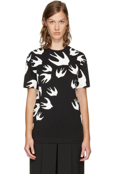McQ Alexander McQueen - Black & White Swallows T-Shirt