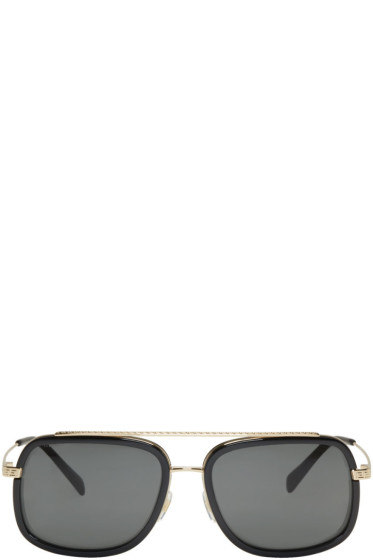 Versace - Black Pop Chic Greca Aviator Sunglasses
