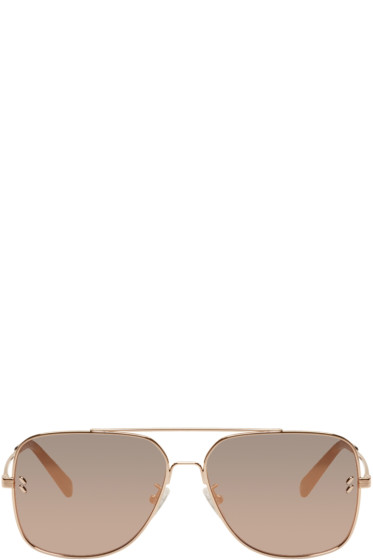 Stella McCartney - Rose Gold Caravan Aviator Sunglasses