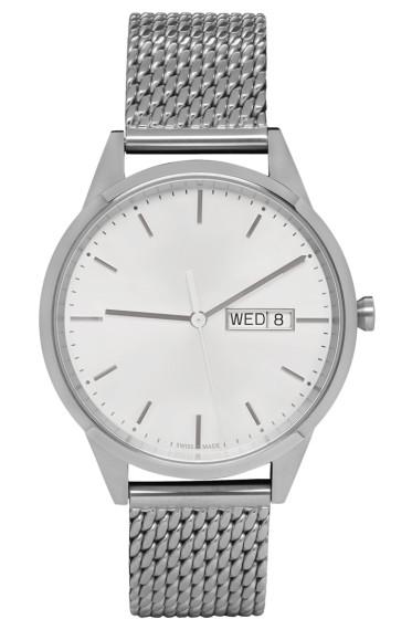 Uniform Wares - Silver Mesh C40 Calendar Watch