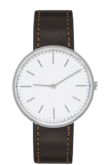 Uniform Wares - Silver & Brown Leather M37 Watch