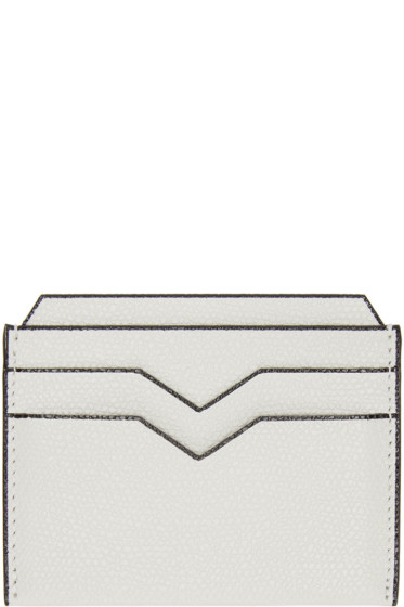 Valextra - Off-White 4CC Card Holder