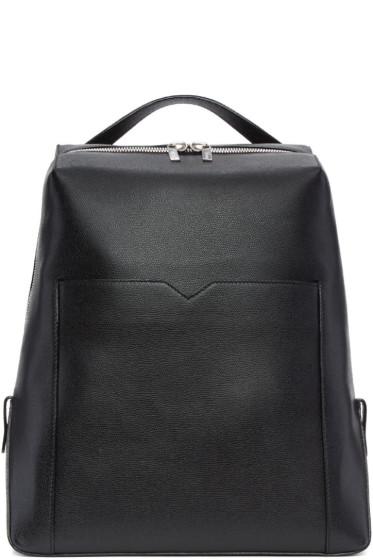 Valextra - Black V Backpack