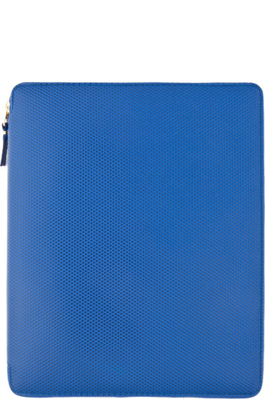 Comme des Garçons Wallets - Blue Leather iPad Case