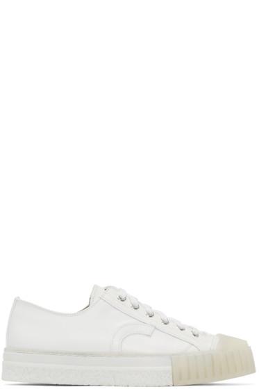 Adieu - White Leather Type W.O. Sneakers