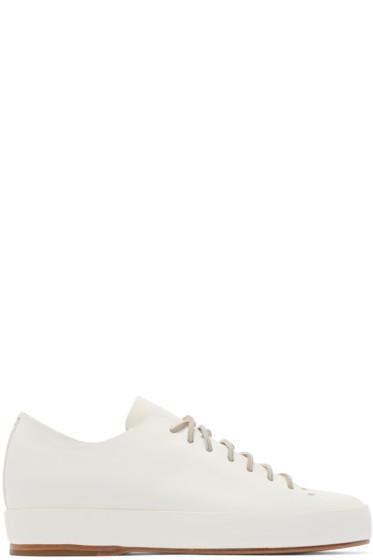 Feit - White Hand Sewn Sneakers